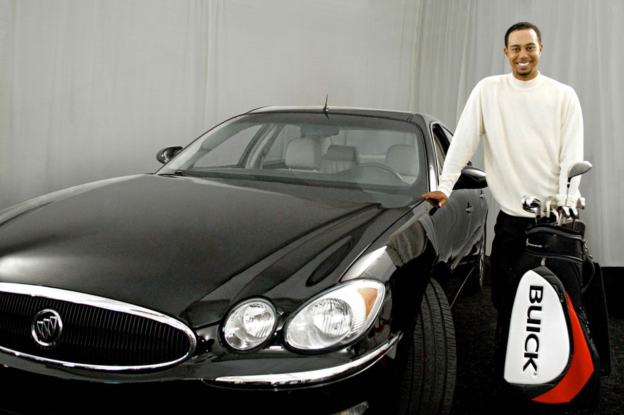 Tiger Woods with a Buick, yesterday