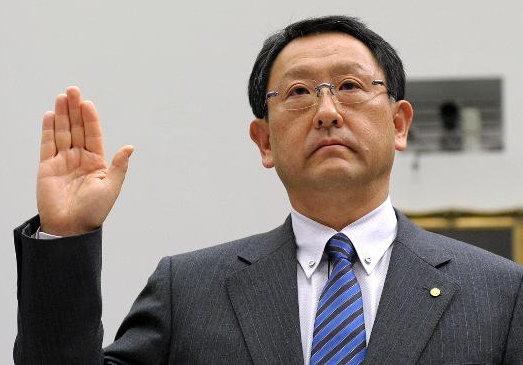 Akio Toyoda waves goodbye to Toyota, yesterday