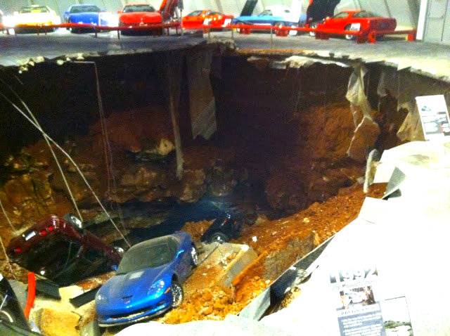 The Corvette museum before the disaster, yesterday