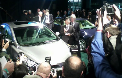 A car receiving and award of the year, yesterday