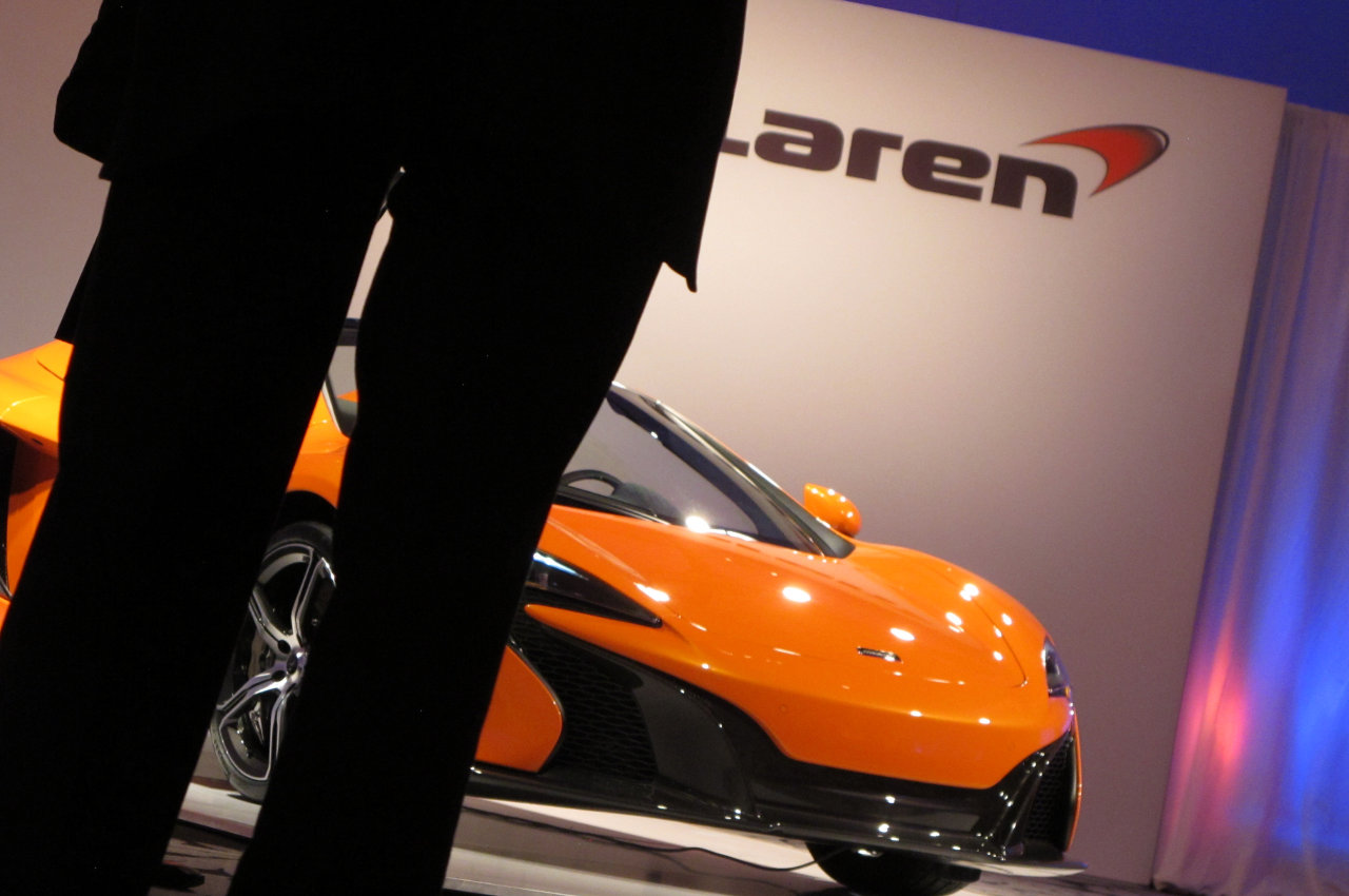 A car being revealed at the New York Interfaith Auto Show, yesterday