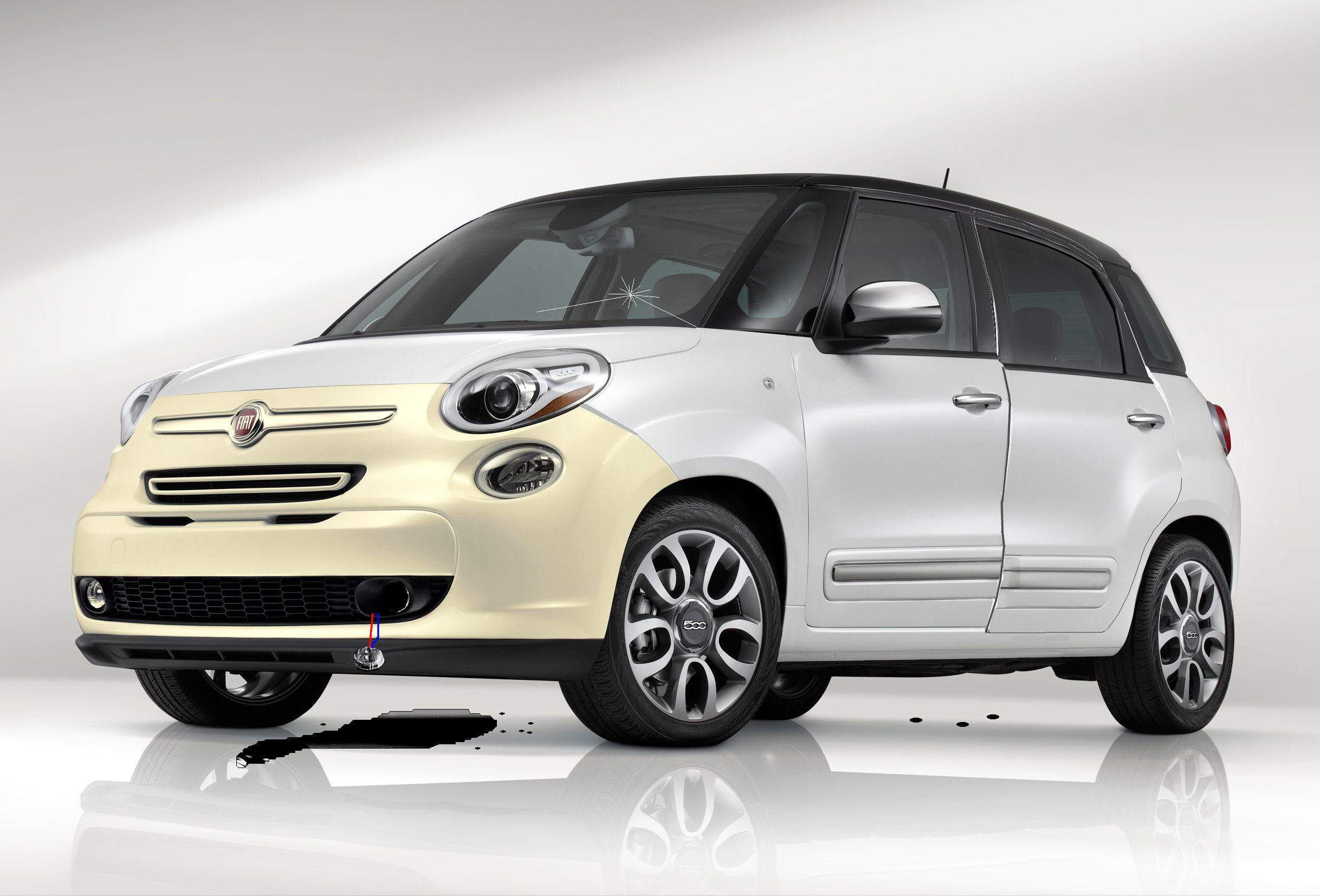 A Fiat 500L, yesterday