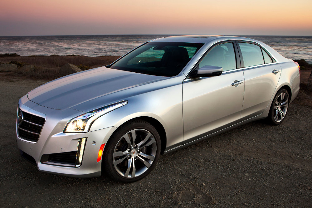 An unsold Cadillac CTS, yesterday