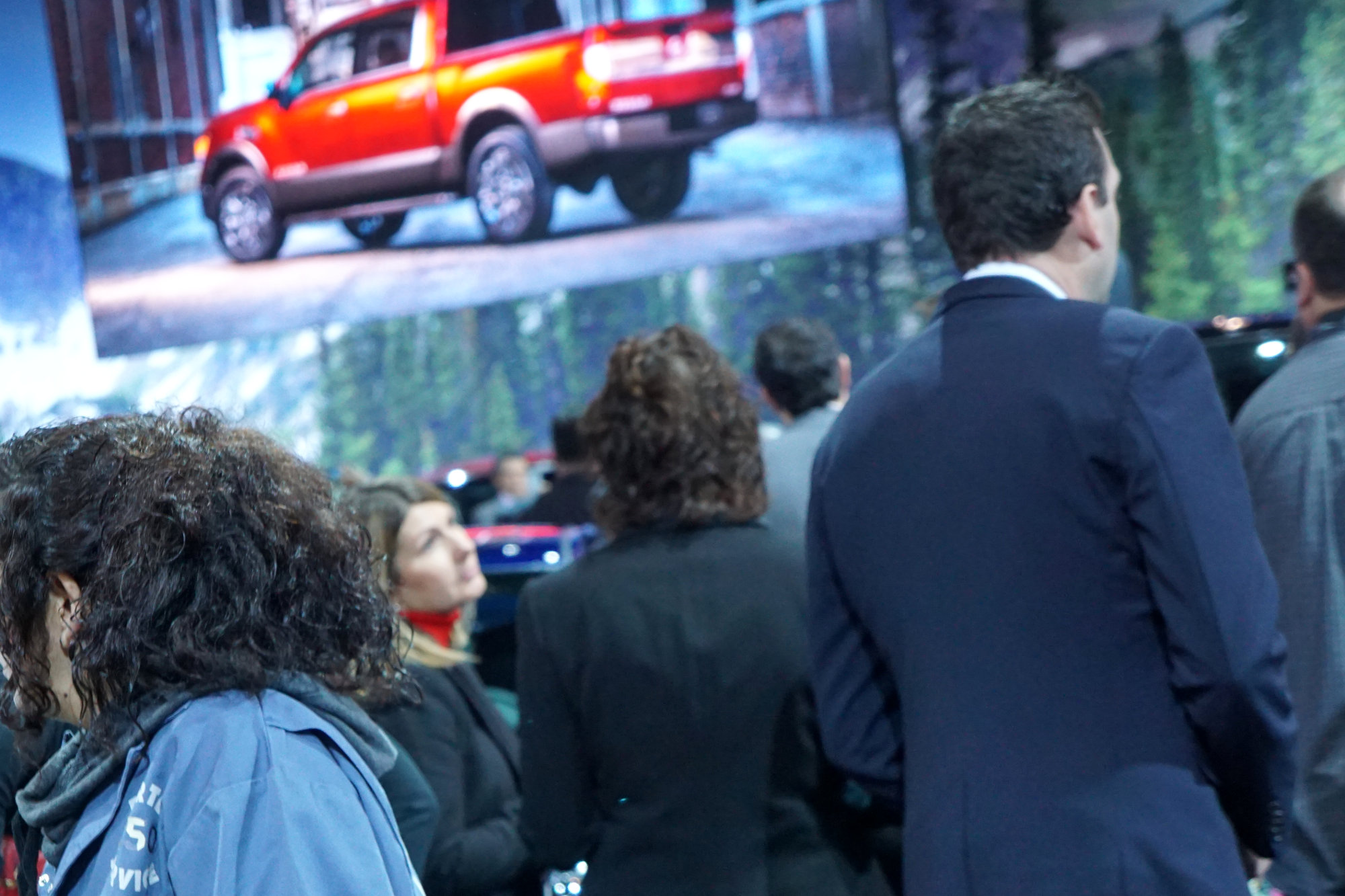 The new Nissan Titanic at the Chicago Auto Show, yesterday